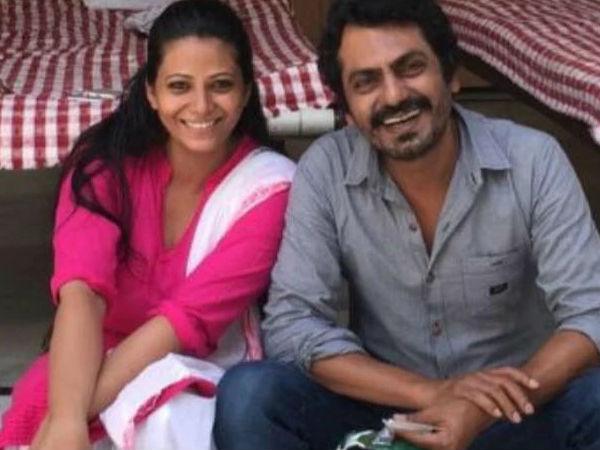 अभिनेता नवाजुद्दीन सिद्दीकी   पत्नी आलिया सिद्दीकी के साथ