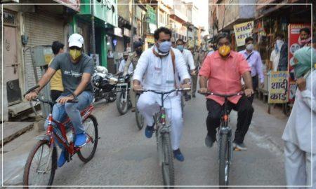 मंत्री हो तो ऐसा: रोज साइकिल पर हो सवार करते है निरीक्षण,लोगो के बीच जा खुद लेते हैं फीडबैक !